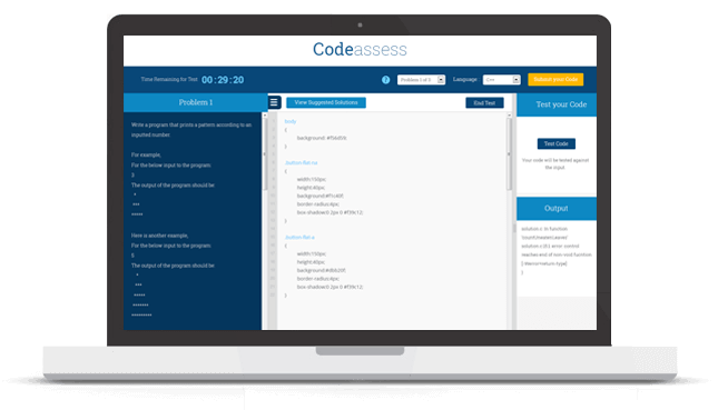 a virtual tour of codeassess com online programming tests coding